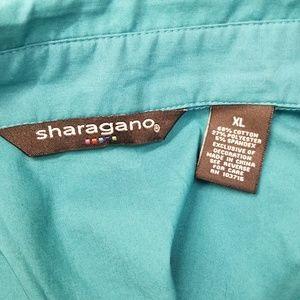 Sharagano Tops - Sharagano Teal Blue XL Cotton Blend Top
